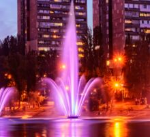 City fountains in Rusanovka Sticker