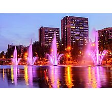 City fountains in Rusanovka Photographic Print