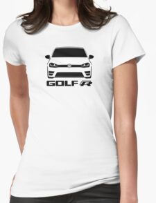 MK7 VW Golf R Front View Womens Fitted T-Shirt