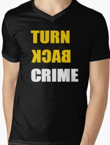 Turn Back Crime Mens V-Neck T-Shirt