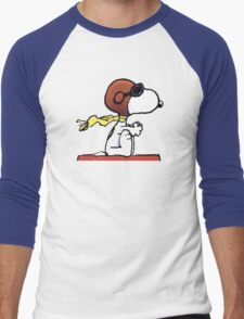 flying snoopy dom Men's Baseball ¾ T-Shirt