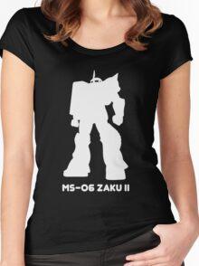 Zaku White Women's Fitted Scoop T-Shirt