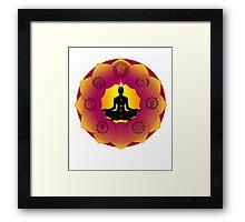 Yoga Lotus Framed Print