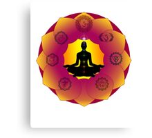 Yoga Lotus Canvas Print