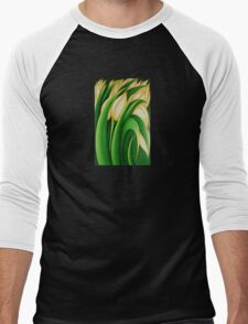 Yellow Tulips Men's Baseball ¾ T-Shirt