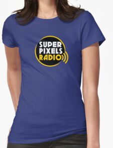 Super Pixels Radio Womens Fitted T-Shirt