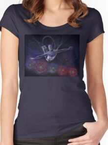 Galactic Acrobat Women's Fitted Scoop T-Shirt
