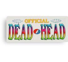 Gratefully Dead Headed Dude Canvas Print