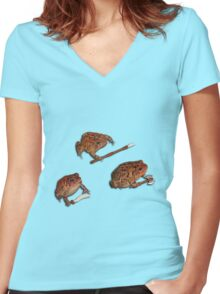 Battle Toads - Combat Readiness Women's Fitted V-Neck T-Shirt