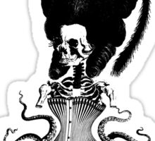 Octopus Skeleton Woman Sticker