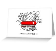 Swiss Barmy Knife Greeting Card