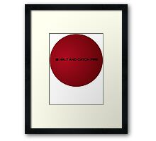 Halt and Catch Fire Framed Print