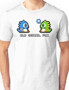 Old School Fun - Bubble Bobble - Bub and Bob - Arcade Fun + Retro Love Unisex T-Shirt