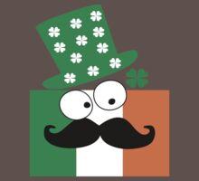 Irish mustache man st.Patty's day Baby Tee