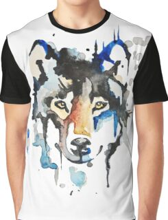 Watercolour Wolf Graphic T-Shirt
