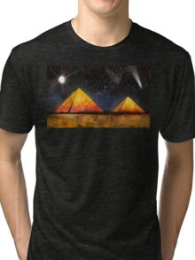 Spray Paint Pyramid Tri-blend T-Shirt