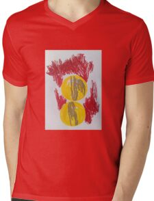 Abstract Movement- gold, red and yellow  Mens V-Neck T-Shirt
