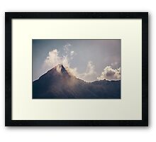 Mountains in the background XXI Framed Print