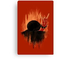 Rock Hard Snail Canvas Print