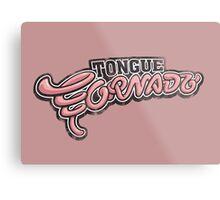 Tongue Tornado Metal Print