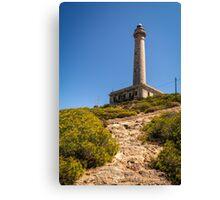 Looking up at Faro de Cabo de Palos Canvas Print