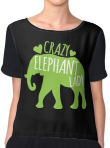 Crazy Elephant lady Chiffon Top