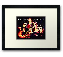 Slay Ignorance at the Library Framed Print