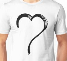 Black brush heart - OneMandalaAday Unisex T-Shirt