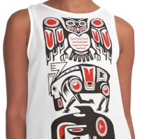 Haida tribal three animals Contrast Tank