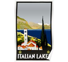 Italian Lakes Vintage Travel Poster Poster