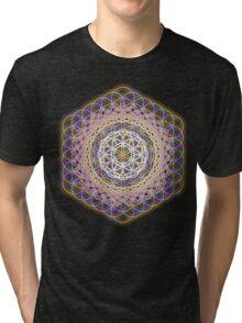 Flower of life rainbow mandala Tri-blend T-Shirt