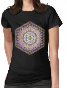 Flower of life rainbow mandala Womens Fitted T-Shirt