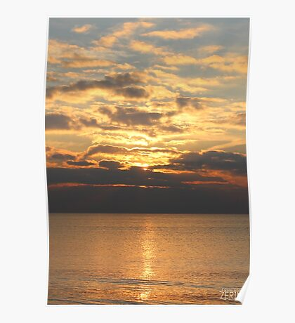Seaside Sunset Poster