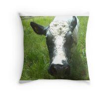 cute sweet cow pillow Throw Pillow
