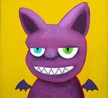 Violet bat by NinaBric