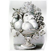 Fruit vase - 1870 - Currier & Ives Poster