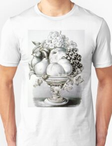 Fruit vase - 1870 - Currier & Ives Unisex T-Shirt