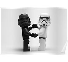 Lego Star Wars Stormtroopers Love Minifigure Poster