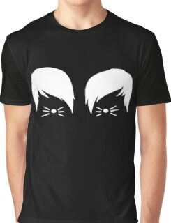 Dan and Phil Cat Whiskers Graphic T-Shirt