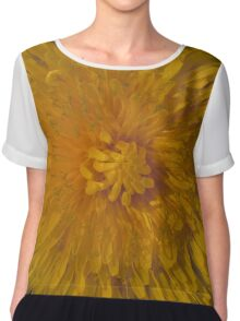 Dandelion flower face up close Chiffon Top