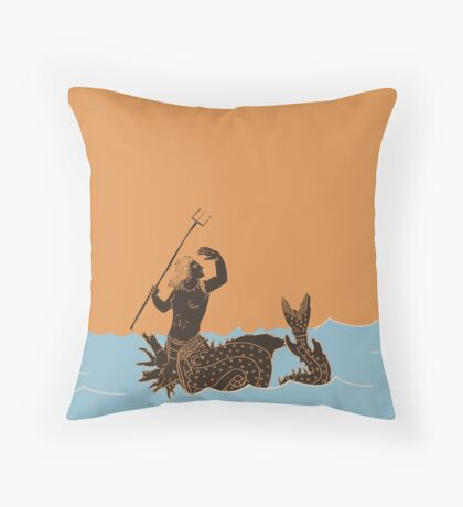 Ancient Greek Sea Monsters Throw Pillow