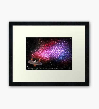 It's easy to get lost in the vastness of the space Framed Print