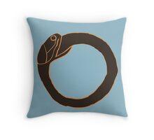 Snake Eating Own Tail Throw Pillow