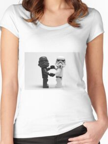 Lego Star Wars Stormtroopers Love Minifigure Women's Fitted Scoop T-Shirt