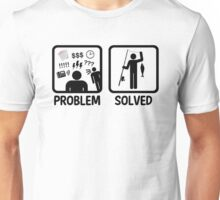 Funny Fishing Problem Solved Unisex T-Shirt