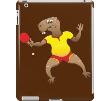 Capybara playing table tennis iPad Case/Skin