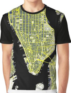 New York city map engraving Graphic T-Shirt