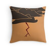 Storm - Ancient Greek Pottery Throw Pillow