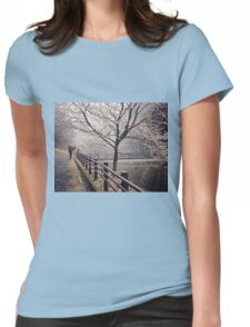 Strolling in the Rain Womens Fitted T-Shirt
