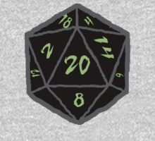Green Sketch d20 Dice One Piece - Long Sleeve